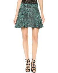 Jay Ahr A Line Miniskirt Greenblack - Lyst