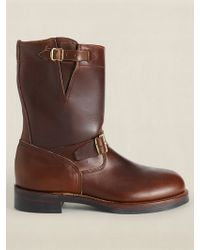 RRL Leather Engineer Boot - Lyst