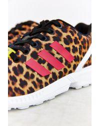 Adidas Zx Flux Leopard Running Sneaker - Lyst
