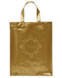 Harrods Medium Embossed Logo Shopper Bag - Lyst