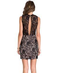 Dolce Vita Abrianna Stretch Floral Lace Dress in Black - Lyst