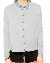 Asos Knitted Cardigan - Lyst