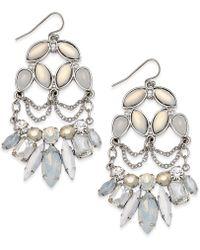 Danielle Nicole - Silver-tone Stone Drop Earrings - Lyst