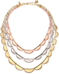 Kate Spade Sweetheart Scallops Triple-Strand Necklace - Lyst