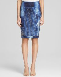 Cynthia Rowley Pencil Skirt - Bloomingdale'S Exclusive Bonded Denim Print - Lyst