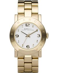 Marc By Marc Jacobs Amy Crystal Analog Watch with Bracelet - Lyst