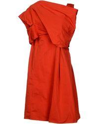 Jil Sander Red Knee-length Dress - Lyst