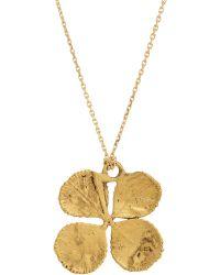 Aurelie Bidermann Clover Pendant Necklace gold - Lyst