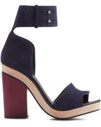Pierre Hardy Suede Sandals With Block Heel - Lyst
