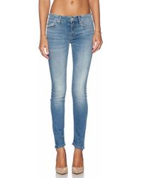 Mother The Looker Skinny Mid-Rise Stretch-Denim Jeans - Lyst