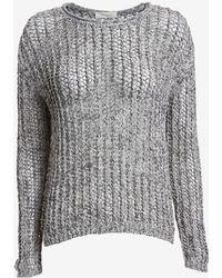 Inhabit Open Weave Knit: Grey - Lyst