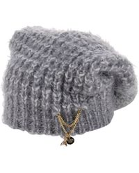 Patrizia Pepe Hat gray - Lyst