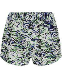 Stella McCartney Solange Abstract Print Shorts - Lyst