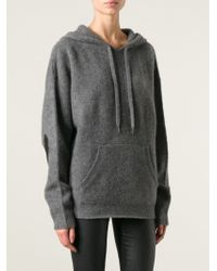 Zadig & Voltaire Knitted Hoodie - Lyst