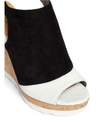 Sam Edelman Kenya Suede Sling-back Wedge Mules - Black