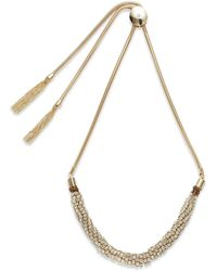 Saks Fifth Avenue Tubular Cluster Bead Accented Statement Necklace - Lyst