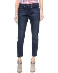 True Religion Nu Boy Slouchy Skinny Rolled Jeans - Brunswick Avenue - Lyst