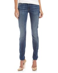 7 For All Mankind Gwenevere Verdugo Blue Hill Skinny Jeans - Lyst