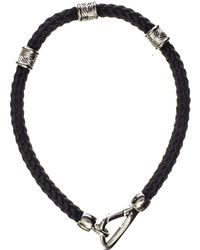 Black.co.uk - Sterling Silver And Cord Bracelet - Lyst