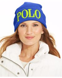 Ralph Lauren Polo Logo Embroidered Hat - Lyst