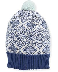 Brora - Nordic Cashmere Knit Beanie - Lyst