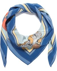 Silken Favours - Multicolour Party Printed Silk Scarf - Lyst