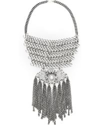 Laura Cantu - Embellished Statement Necklace - Lyst