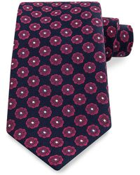 Thomas Pink Holywell Flower Woven Tie - Blue