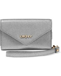 DKNY - Textured-leather Phone Case - Lyst
