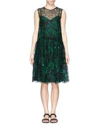 Erdem 'Maddox' Embroidery Cutout Organza Dress green - Lyst