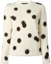 Marc By Marc Jacobs Blurred-Dot Cotton-Blend Sweatshirt - Lyst