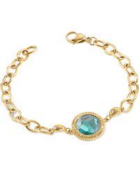 Just Cavalli Just Queen Silvertone Bracelet W/crystal - Blue