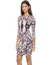 Just Cavalli Print Dress - Plum - Lyst