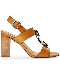 Diane von Furstenberg Natural Padme Sandals - Lyst