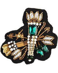 N°21 - Arrow Crystal-Embellished Brooch - Lyst