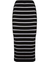 Balmain Knitted Pencil Skirt - Lyst