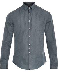John Varvatos Classic-fit Pick-stitch Shirt - Lyst