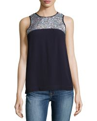 French Connection Sequined Sleeveless Top - Lyst