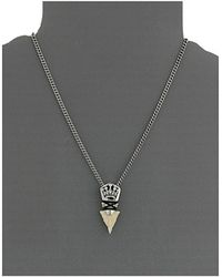 King Baby Studio Crown Arrowhead Pendant Necklace W Ivory Point - Lyst