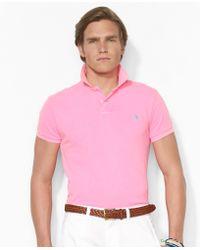 Polo Ralph Lauren Custom Neon Mesh Polo Shirt - Lyst