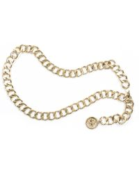 Chanel Pre-Owned Thick Gold Chain Belt - Lyst