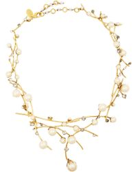 Erickson Beamon Stratosphere Gold-Plated Faux Pearl and Swarovski Crystal Necklace - Lyst