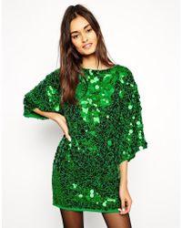 Asos Premium Sequin Mini Dress - Lyst