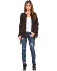 Blank - Fringe Leather Jacket - Lyst
