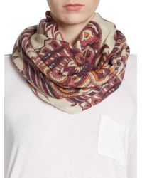 La Fiorentina - Paisley Print Wool Scarf - Lyst