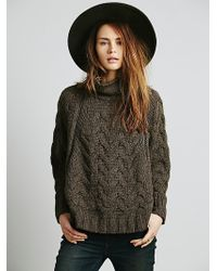 Free People Following Directions Zipper Cape - Brown