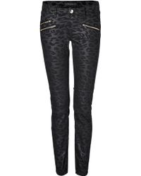 Juicy Couture Leopard Print Coated Skinny Jeans - Lyst