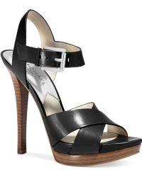 Michael Kors Michael Oksana Platform Sandals - Lyst