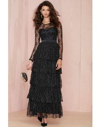 Nasty Gal Shed A Tier Lace Dress - Lyst