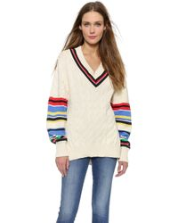 Preen Blythe Sweater - Ivory/Multi - Lyst
